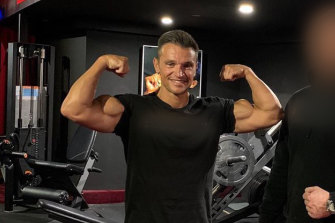Tony Antonopoulos at the gym.
