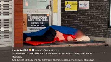 Lisa Scaffidi's tweet showed this image and caption.
