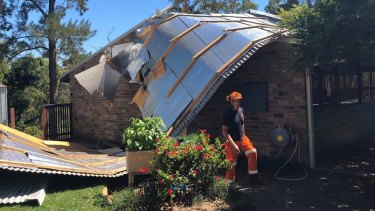 SES volunteers from the Hornsby Unit in NSW received close to 200 calls after a storm on Tuesday.