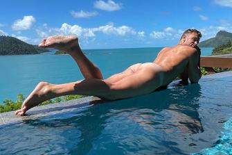 Adam Cooper sunning himself on Hamilton Island.