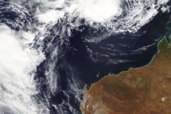 Seroja and the tropical low approach the coast.