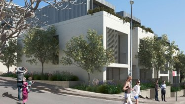 An artist's impression of Vision Land Glebe's 357 Glebe Point Road development, which will likely replace the court building.