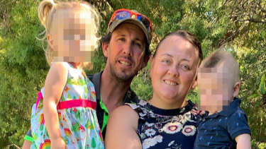 The Whitaker family (left to right): Lara (2), Gary (39), Joedy (39) and their one-year-old son.
