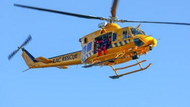 The RAC helicopter was called to assist.