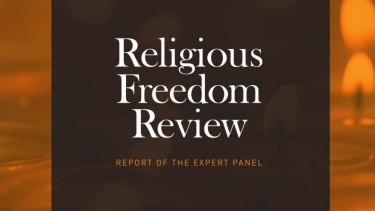 The front cover of the religious freedom review.