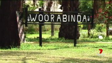 A toddler was killed when a wooden carport gate fell in Woorabinda on Thursday, April 18, 2019. Photo: Seven News.