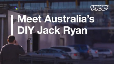 Cyber investigator Simon Smith in a VICE promotional video for Amazon's Jack Ryan