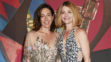 Edwina McCann (left), <i>Vogue Australia</I> editor-in-chief, and Kellie Hush, former <i>Harpers Bazaar</I> editor.
