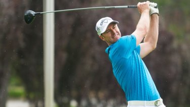 Canberra golfer Brendan Jones shot up the leaderboard to be within reach of his 15th title.
