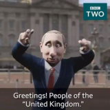 The surprise host of the BBC's latest show: an animated Vladimir Putin.