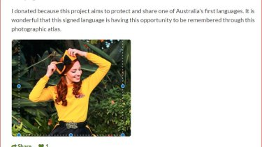 Emma Watkins, the Yellow Wiggle, is working on a doctorate in sign language.