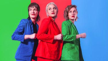 Jen Cloher (left), Liz Stringer and Mia Dyson are touring their debut album, Dyson Stringer Cloher.