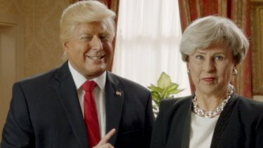 Tracey Ullman's Show does sketches of Theresa May and Donald Trump.