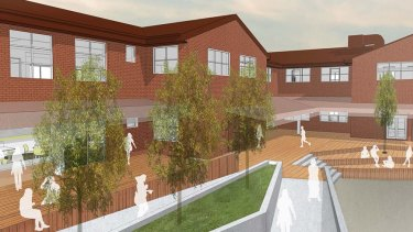 Artist impression of upgrades to the merged Murrumbidgee Regional High School.
