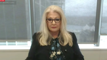 Crown Resorts chairwoman Helen Coonan gives evidence to the NSW Independent Liquor and Gaming Authority inquiry on Friday.