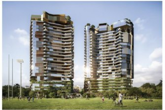 Two 26-storey apartment towers are proposed for West End's Montague Road beside Davies Park.