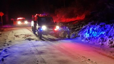 ACT Fire and Rescue rescued a man and his dog in the Brindabellas on Saturday night.