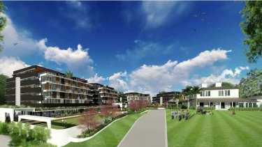 The proposed four-building development would have had more than 100 units for retirement living.