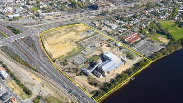 A redevelopment of the East Perth power station is slated to cost $218 million, but the WA government is valuing the riverfront land at just $1.