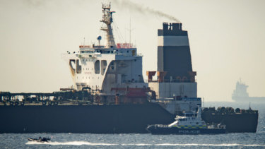 The Grace 1 tanker was impounded in the British territory on the southern tip of Spain after sailing around Africa.