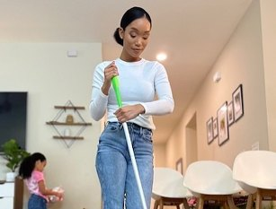 She makes six figures cleaning – and filming herself doing it