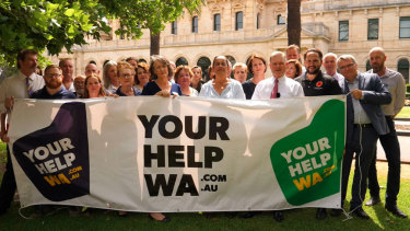 More than 400 WA organisations have banded together to launch the #YourHelpWA campaign.
