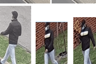 Stills taken from CCTV footage of the man police wish to speak to.