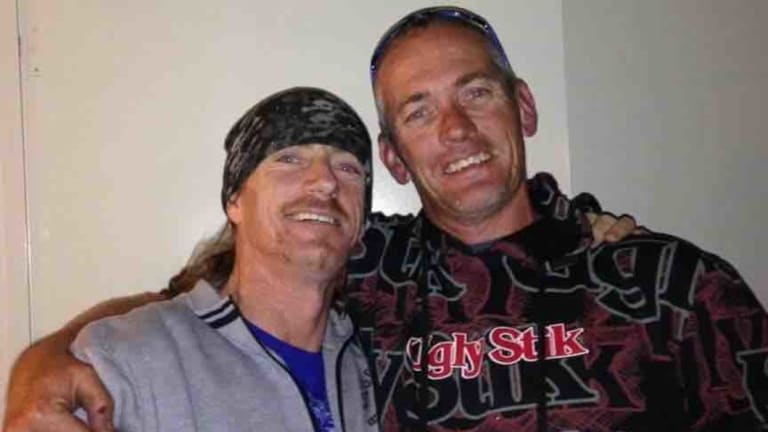 Adrian Hogg, 47, left, with his brother Mark.