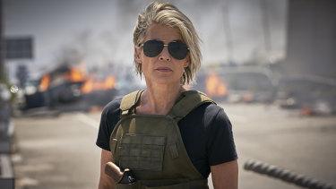 Linda Hamilton in Terminator: Dark Fate.
