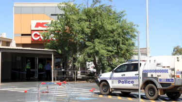The incident happened at the South Hedland Square shopping centre.