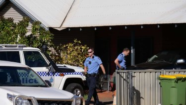 Police in attendance at a property in Cable Beach.