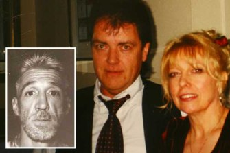 Terence and Christine Hodson (right) and the man suspected of killing them, Rodney Collins (inset).