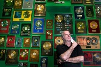 Michael Gudinski at the 40 years of Mushroom exhibition.