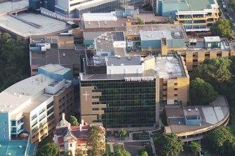 The Wesley Hospital, in Brisbane's inner-west.