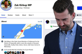 Opposition Leader Zak Kirkup's page had been blocked by the US social media giant.