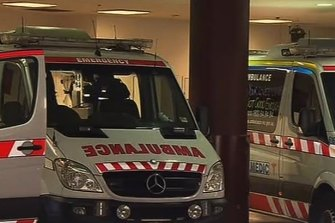 Ambulances have had to wait for hours outside Victorian hospitals.