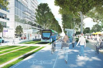 An artist's impression of the finished Fishermans Bend project.
