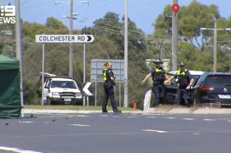 A man riding a mobility scooter has died after a crash at a Victorian coastal town on the Mornington Peninsula.