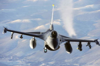 The United States has used F-16 and F-15 fighter jets to strike military depots in Syria and Iraq which it said were used to launch attacks against American interests.