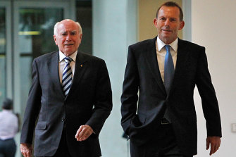 John Howard and Tony Abbott: the two shared similar views on the Renewable Energy Target.