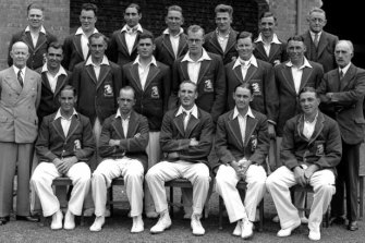The English team from the 1932-33 Ashes Series: The Bodyline Series.