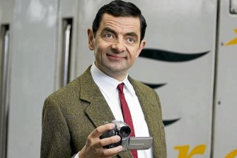Rowan Atkinson as Mr Bean.