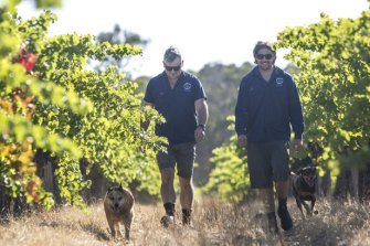 Jeremy Hodgson (Head winemaker) and Andy Keig (Vineyard Manager) from Fermoy Estate in Margaret River.