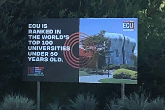 ECU values its Times Higher Education ranking.