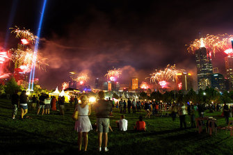 There will be no official firework display to see in the new year in Melbourne.