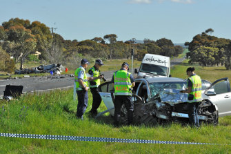 2012: A crash on Geelong-Bacchus Marsh Road that killed two people on October 2, 2012.