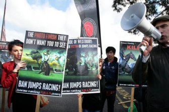 Animal rights protests are becoming a familiar sight at race meetings across Australia.