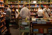 Shoppers in Sydney's Kinokuniya.