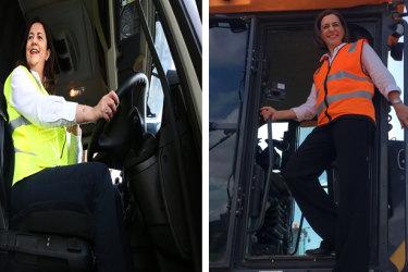 Queensland Premier Annastacia Palaszczuk (left) and Opposition Leader Deb Frecklington (right).