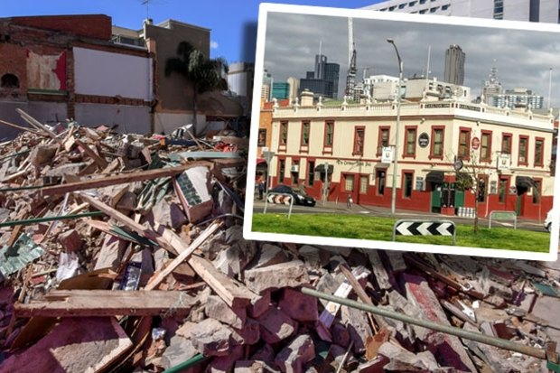 Carlton's Corkman Irish pub, built in 1857, was demolished without permission in 2016.